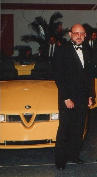 "The author pictured with the ""il Mostro"" Alfa Romeo"