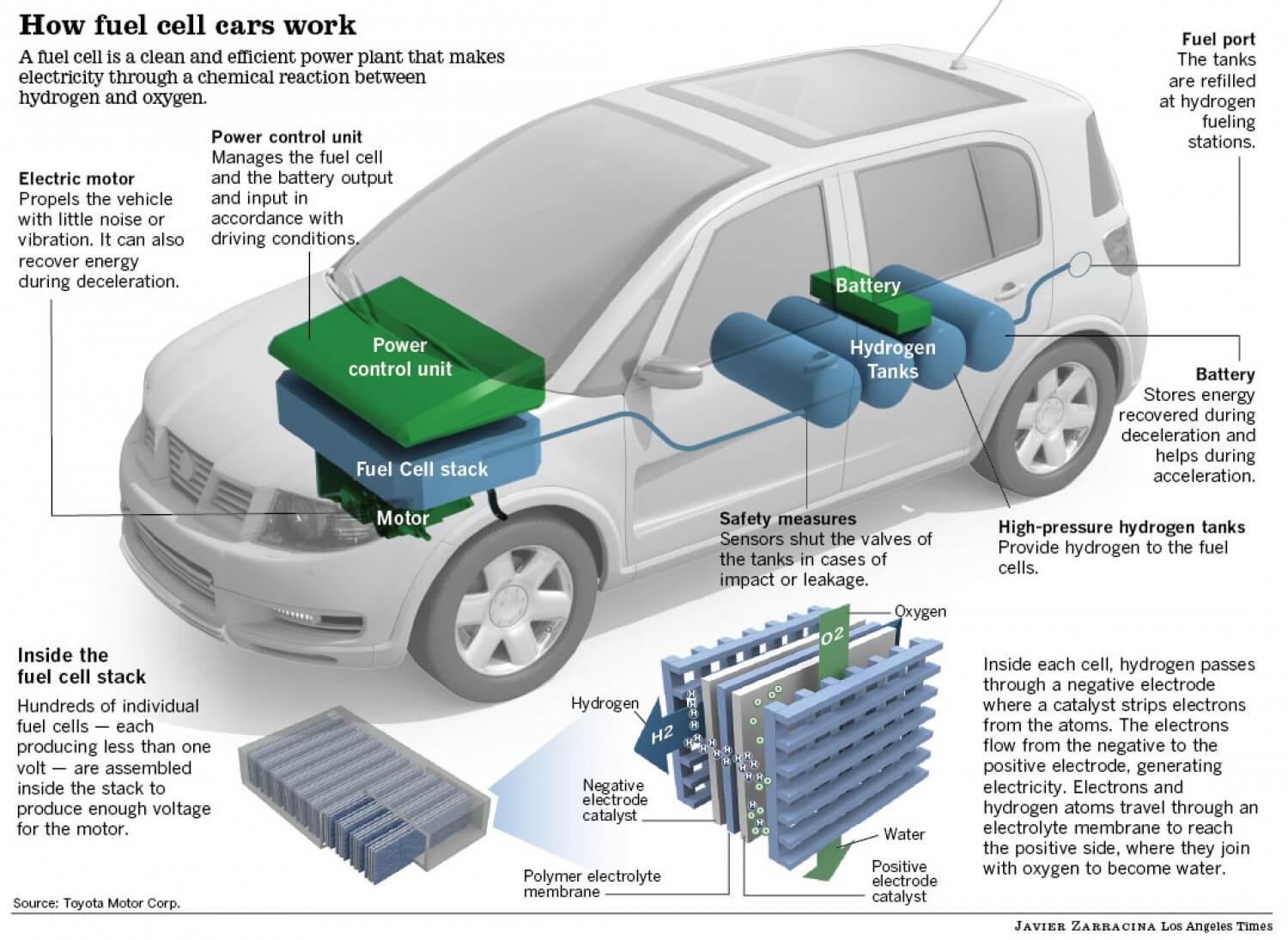 How hydrogen fuel cells work