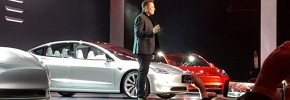 Musk unveils the 2017 Tesla Model 3