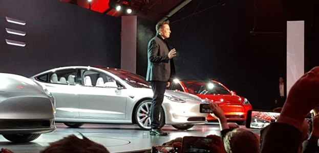 Musk unveils the 2017 Tesla Model 3