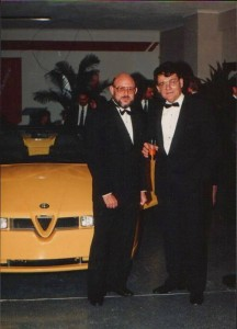 Ing Rossi and myself in front of il Mostro